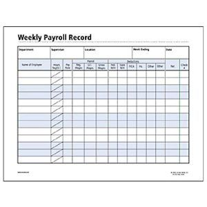 WEEKLY EMPLOYEE PAYROLL FORM   Google Search  Payroll Forms Free