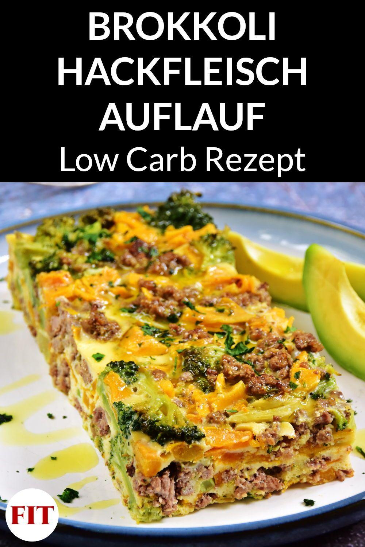 Low Carb Auflauf mit Brokkoli Hackfleisch - Ketogenes Rezept