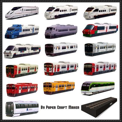 Lots of Japanese Train Paper Models Free Templates Download - http://www.papercraftsquare.com/lots-of-japanese-train-paper-models-free-templates-download.html