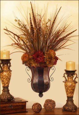 Hydrangea And Natural Botanical Silk Flower Wall Sconce SC03 : Floral Home  Decor, Silk Flowers | Silk Flower Arrangements | Home Accents