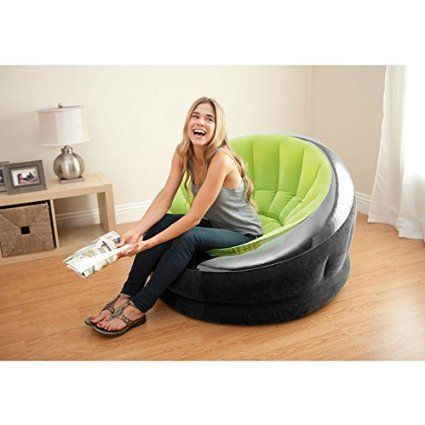 Intex Inflatable Empire Chair X Color May Vary 1 Pack Camping Furniture Sports Outdoors
