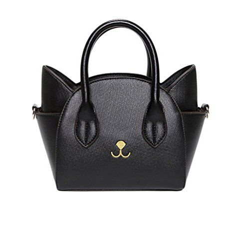 0df72c7e6884 Women Girls Top Handle Cute Cat Ear Satchel PU Leather Tote Handbag ...