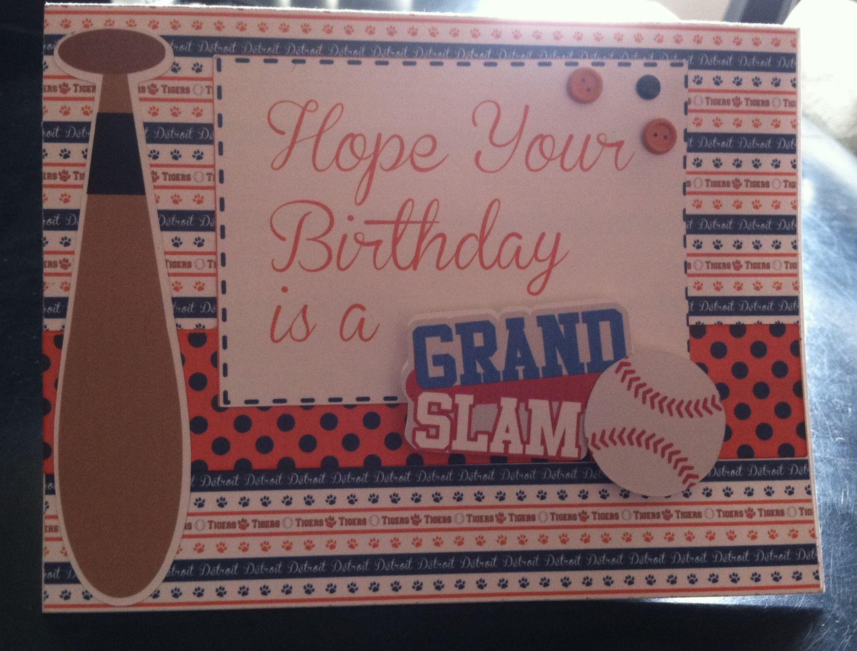 Baseball Themed Birthday Card Handmade Cards Masculine