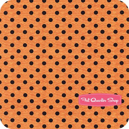 Spooky Spectacular Orange Dots Yardage SKU# 23673-899W