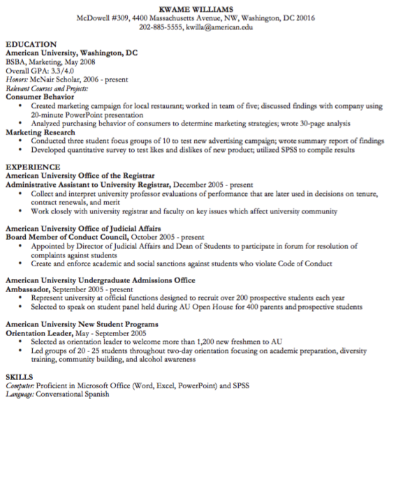 Example Of Orientation Leader Examples Resume Cv