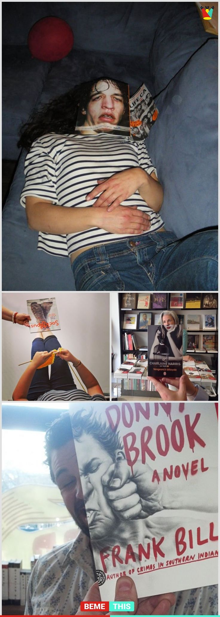 Most Creative Book Cover : Of the most creative and funny illusions using book