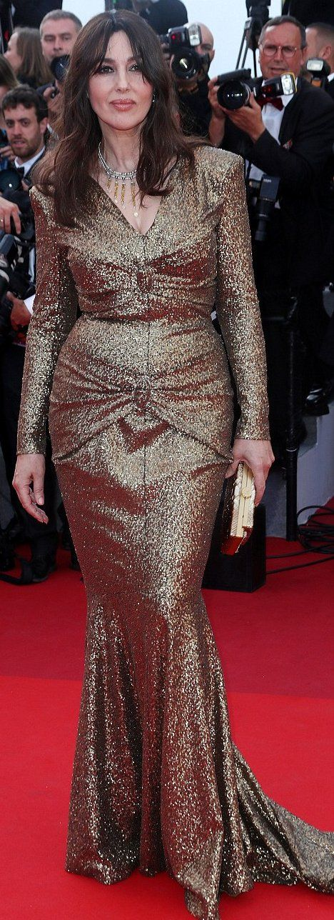 Monica Bellucci in Chanel attends the 70th Anniversary of the 70th annual Cannes Film Festival. #bestdressed