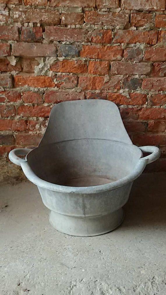 Baignoire Tub Bain De Siege En Zinc Antique Metal Bathtub
