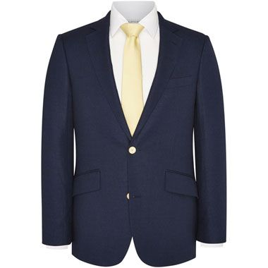 Austin Reed Contemporary Fit Linen And Cotton Jacket Navy