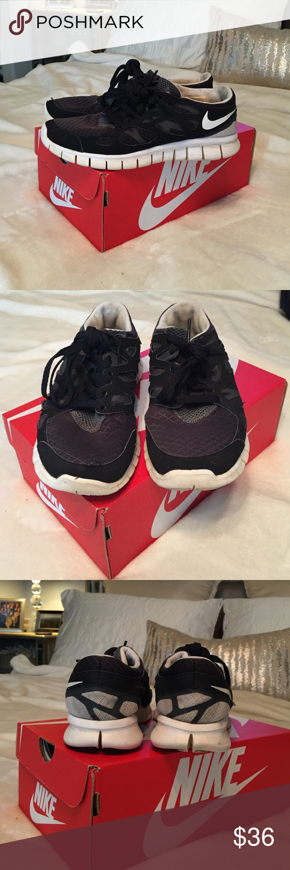 Nike free run 2 Worn but still lots of life left in them! Nike Shoes Athletic Shoes