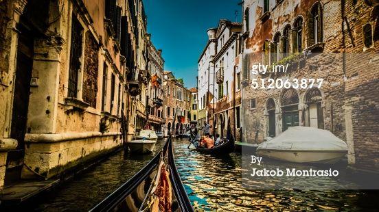 Stock-Foto : In a Gondola in Venice