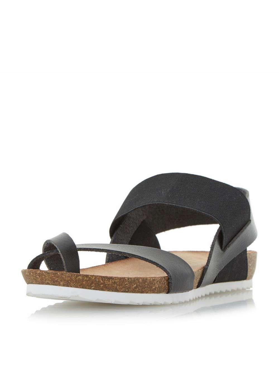 fe534c6dd6b Womens  Head Over Heels by Dune Black Laury Flat Sandals- Black
