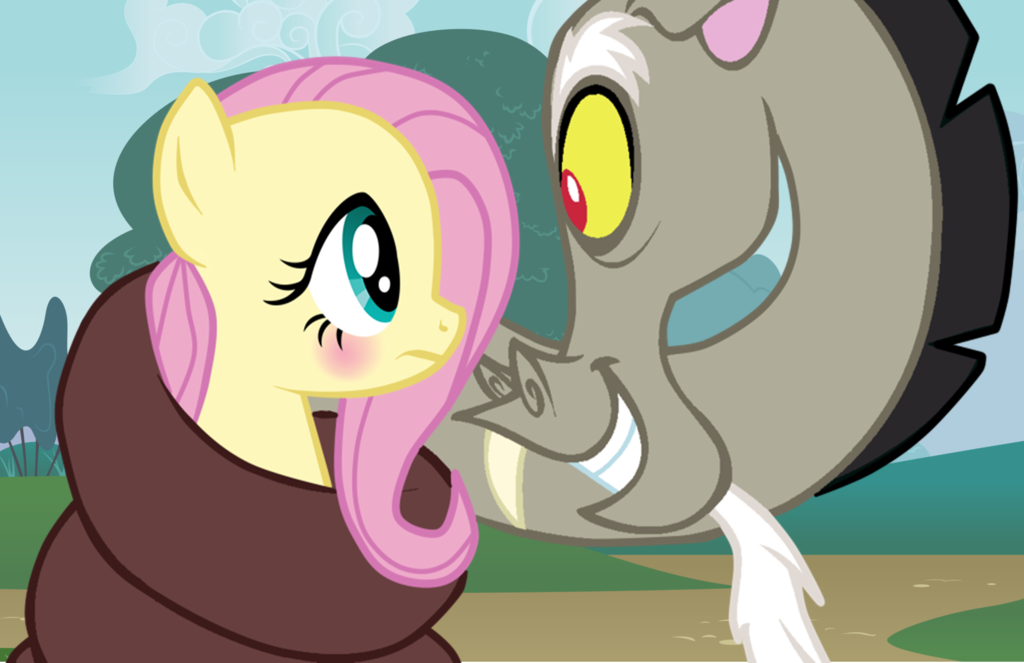 Discord Love Fluttershy And Kiss