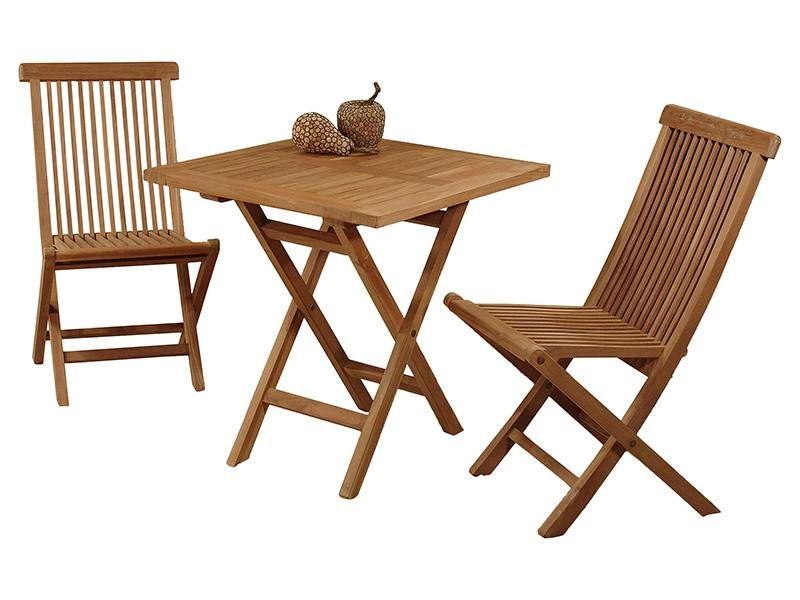 mesa y 2 sillas de madera