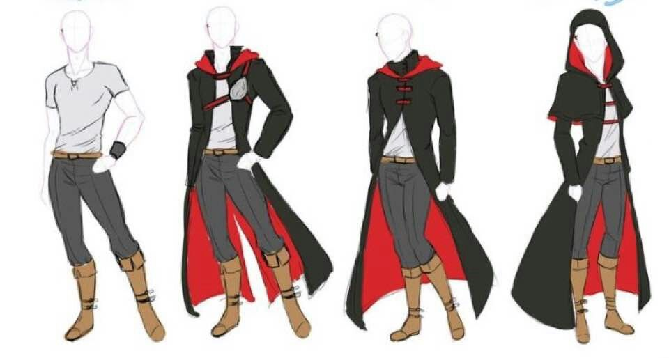 Male Outfits Drawing Anime Clothes Mens Outfits Anime Outfits