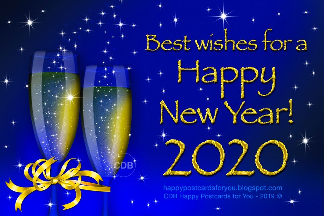 Greeting card 💫🌟 Best Wishes for a HAPPY NEW YEAR 2020