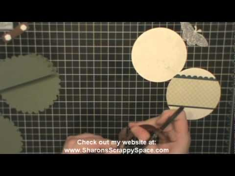 scallop circle easel card youtube youtube tutorials