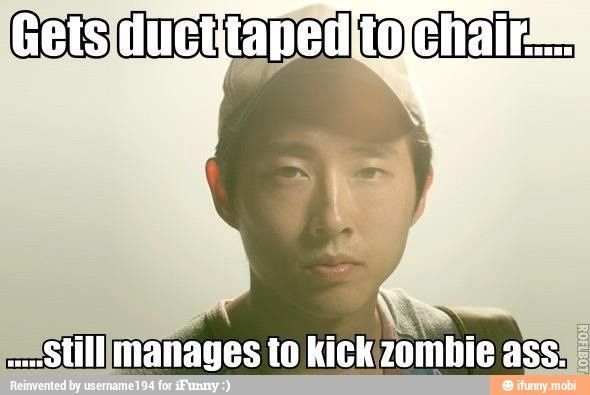 Glen from The Walking Dead! He was rather badass in that episode. Very Daryl-esque.