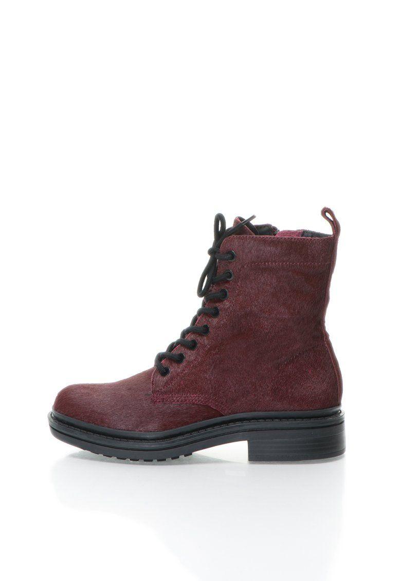 Florissa Burgundi Szőrös Bőr Motoros Csizma a Calvin Klein Jeans márkától  és további hasonló termékek a b102dfa857