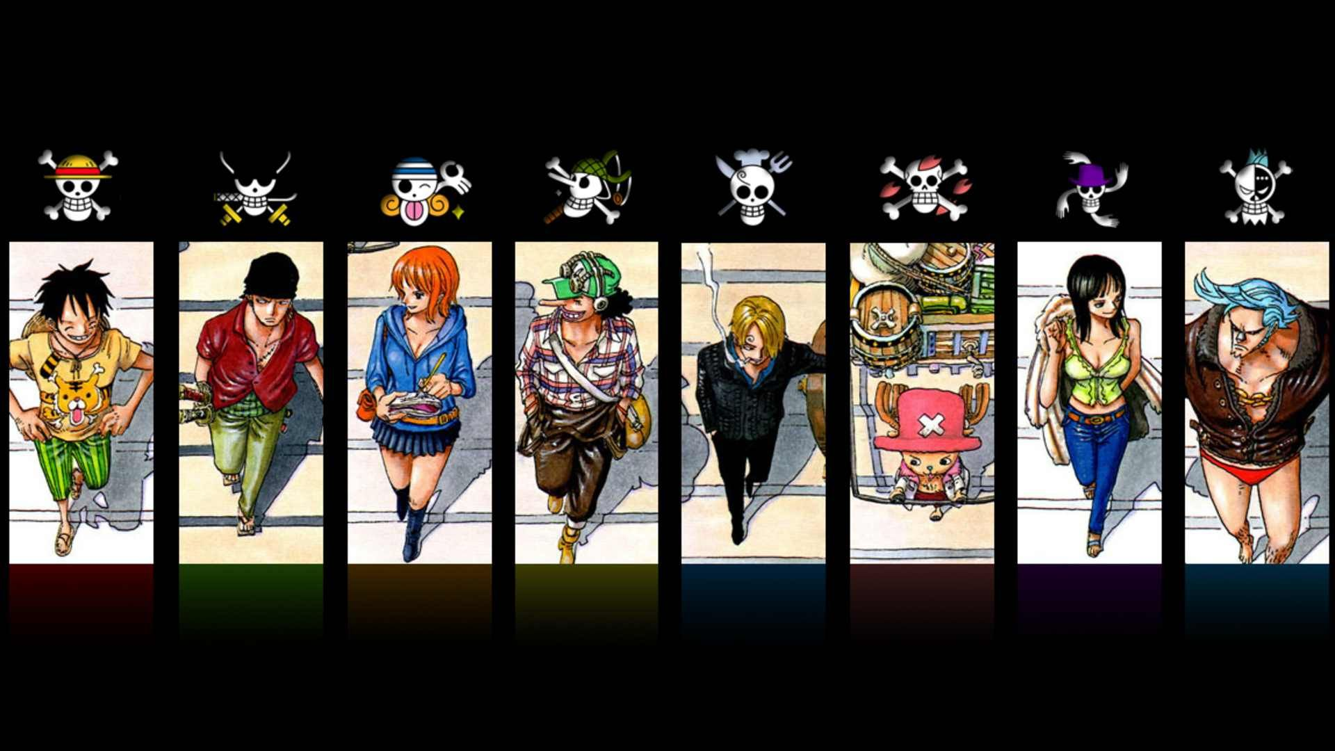 Straw Hat Crew And Their Personal Flags One Piece Anime One