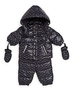 Armani Baby Baby's Puffer Coat & Snow Pants Set - Black  - Size 3 Mont