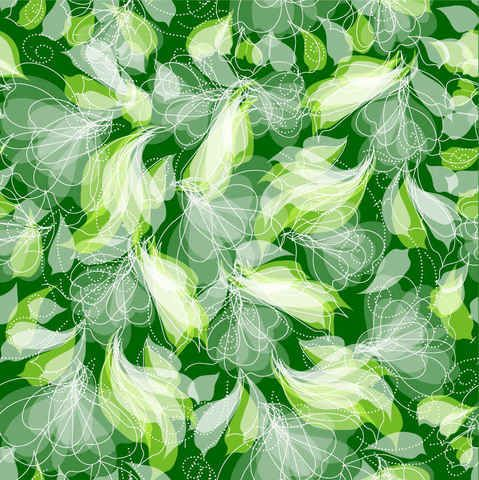 Green Floral Pattern Seamless Background, Vectors - 365PSD.com