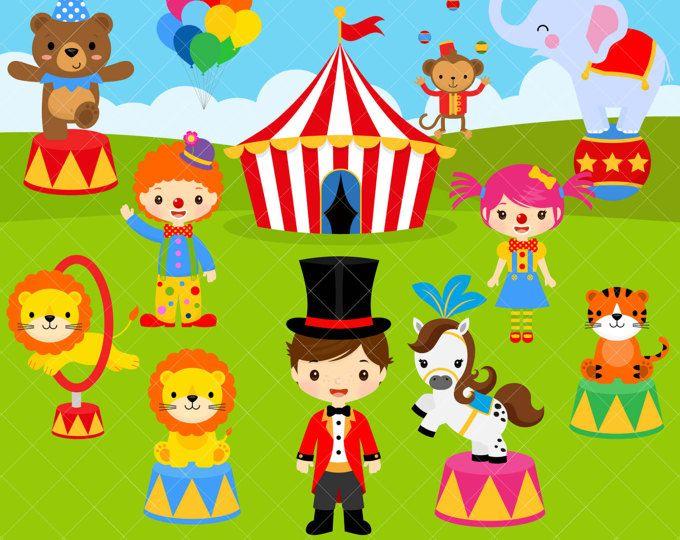 56 Circus clipart , circus clip art ,clowns clipart , circus ...