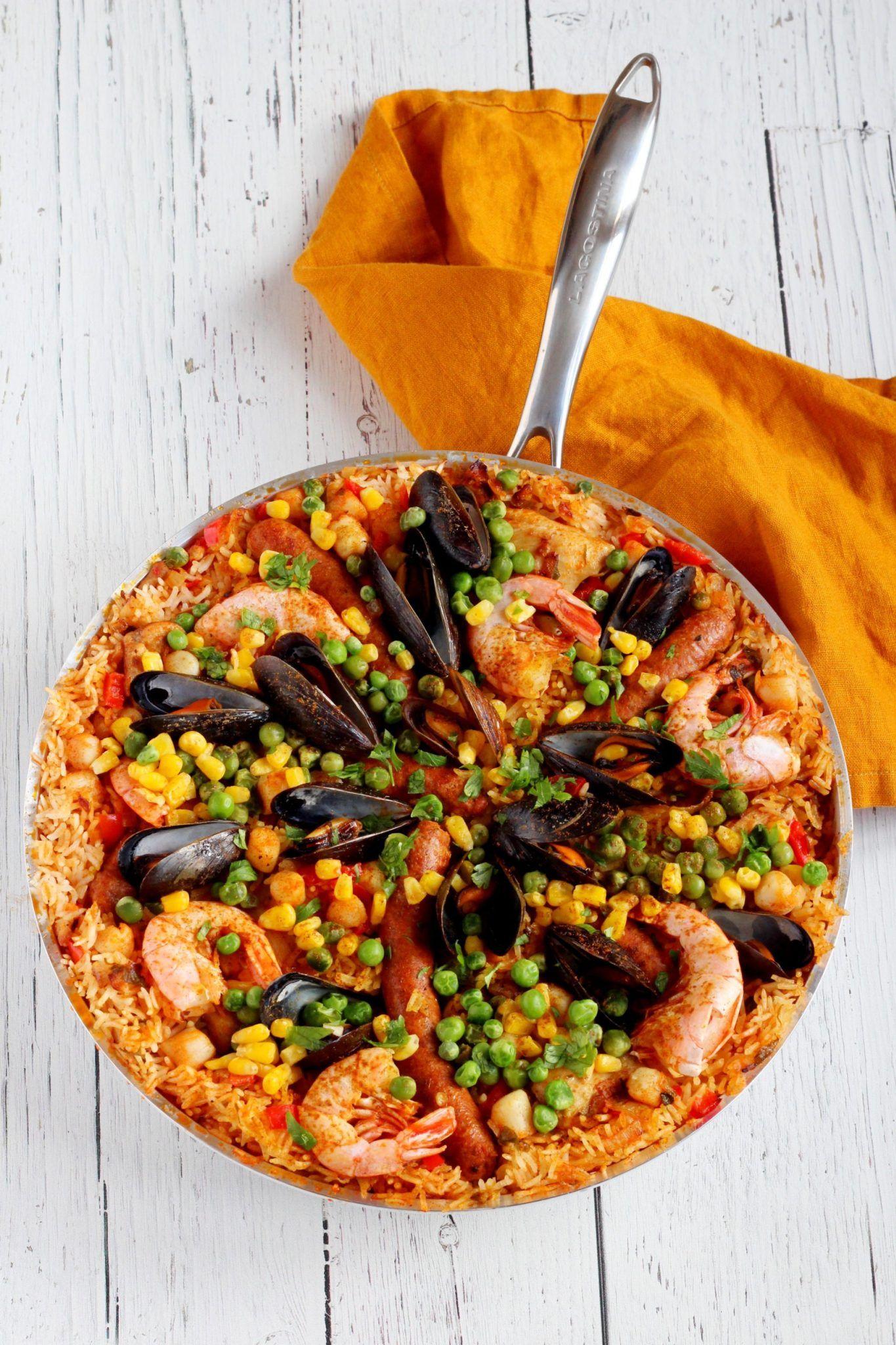 My Traditional Spanish Paella Recipe Spanish Paella Paella Paella Recipe