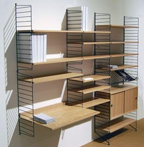 Arbetsplats, får iMac plats? String Regale Wohnzimmer Pinterest - regale für wohnzimmer