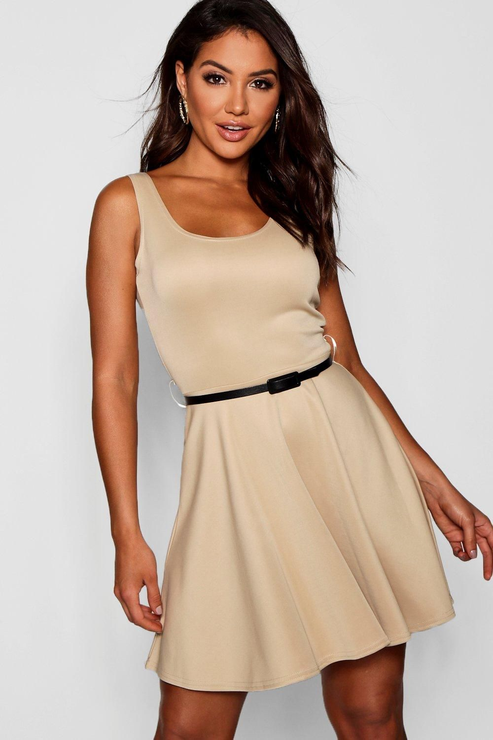 Scoop Neck Skater Dress | Pinterest