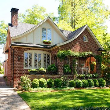 Brick siding ideas tudor style bricks and house for Tudor colonial style home