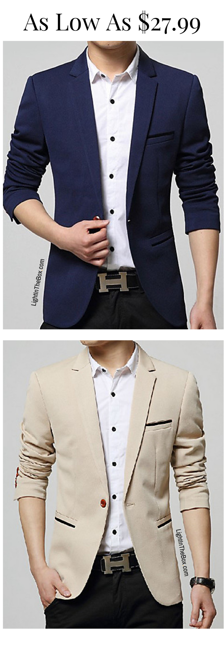 FUOE Men Slim Fit Button Jacket Coat Long Sleeve Solid Color Winter Casual Outwear with Multi-Pocket