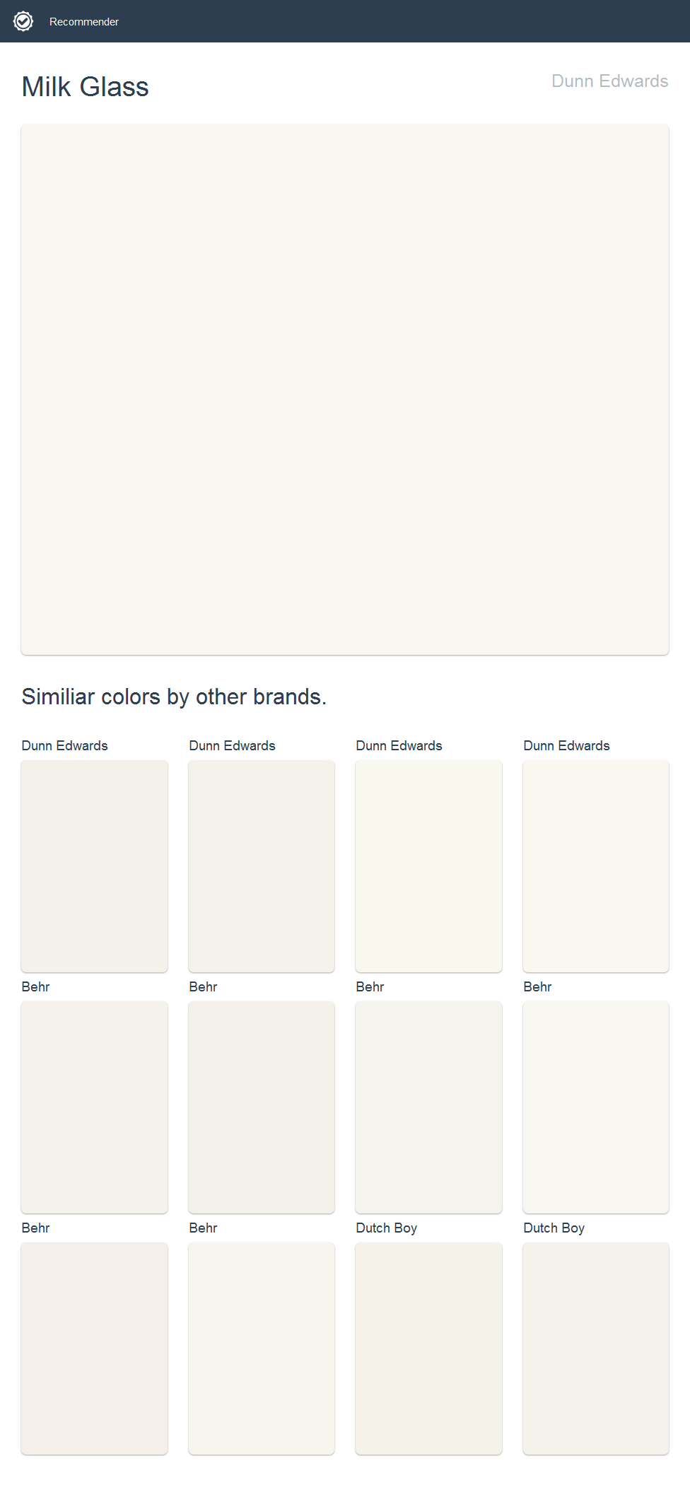 Milk glass dunn edwards click the image to see similiar colors by other brands