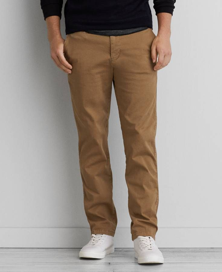 AEO Slim Straight Active Flex Pants, Men's, Tour Khaki | *Clothing ...