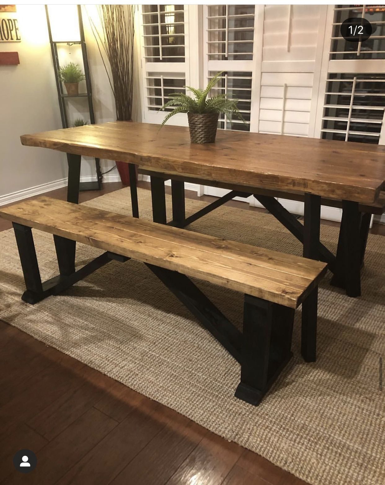 38++ Dining table bench designs Best