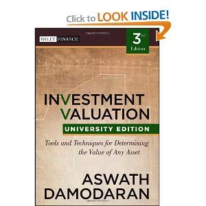Damodaran investment valuation manuscript paper baird investment banking interview book