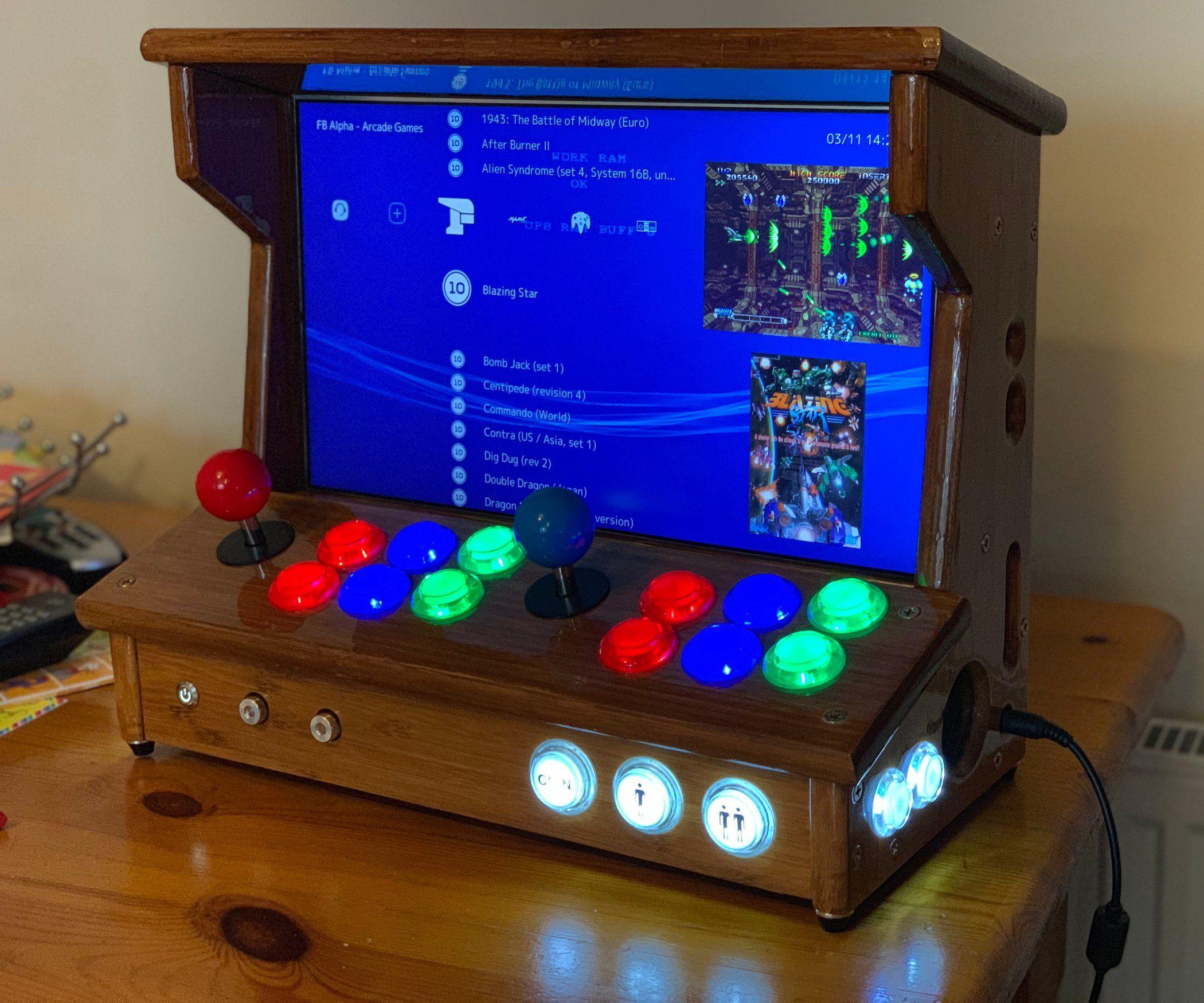 Mini 2 Player Arcade From An Old Laptop And Ikea Chopping Boards Arcade Arcade Machine Game System [ 1750 x 2100 Pixel ]