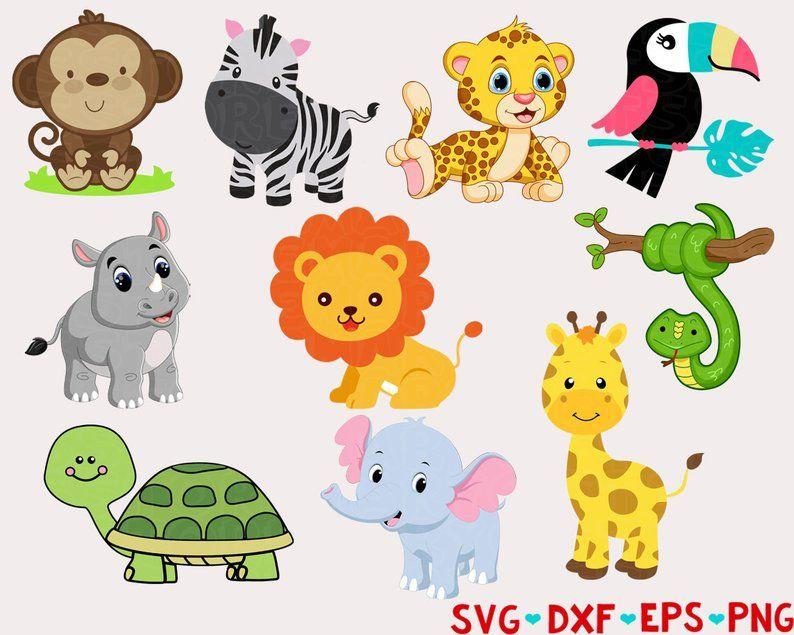 Safari Animals Svg Zoo Animals Svg Jungle Animals Svg Animal Etsy Cricut Zoo Animals Safari Animals