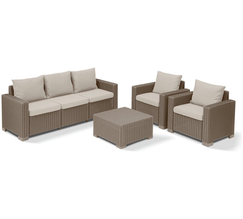 Argos Rattan Garden Table And Chairs: Buy Keter California Rattan 5 Seater Garden Lounge