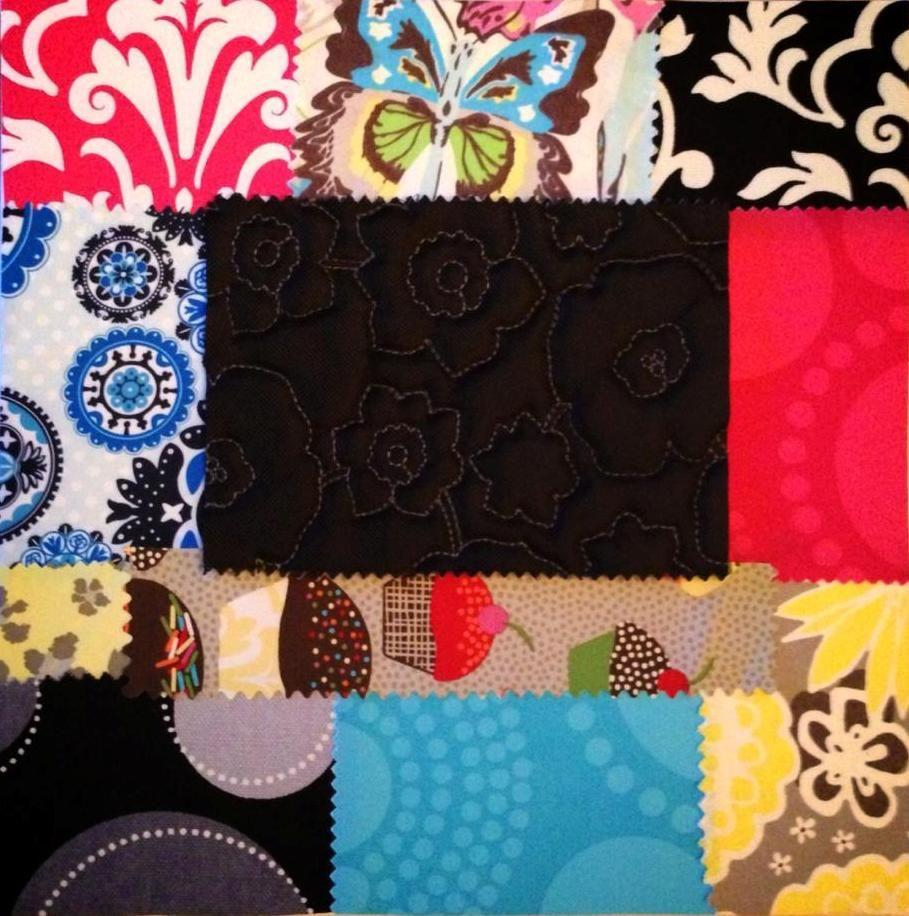 Collage con recortes de telas. By Rocío Bermúdez