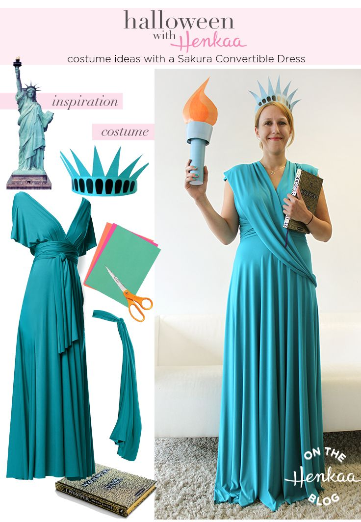 Statue of Liberty Patriotic Lady Costume Halloween Fancy Dress
