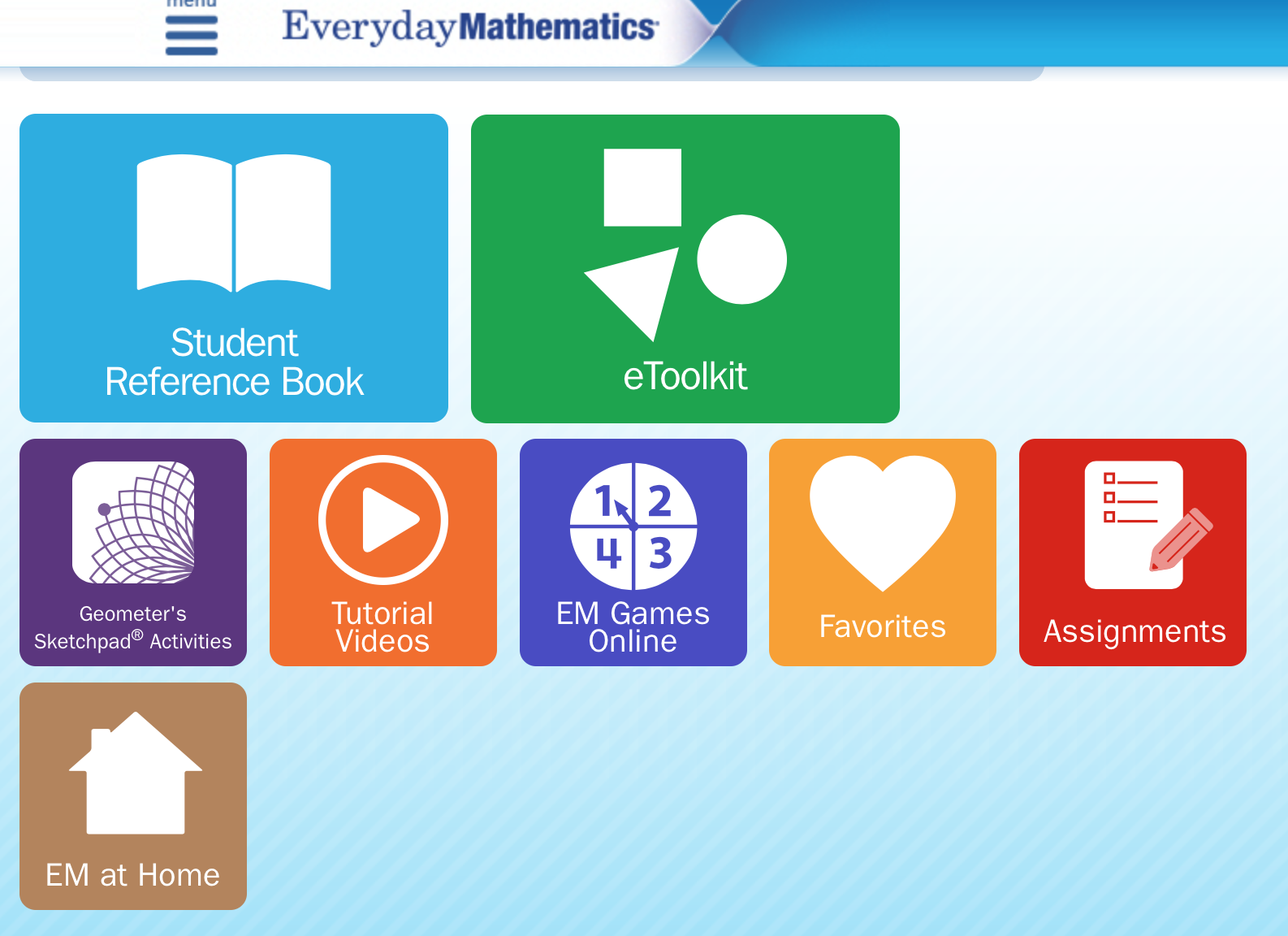 Everyday Math Student Page Everyday Math Student Resources Math