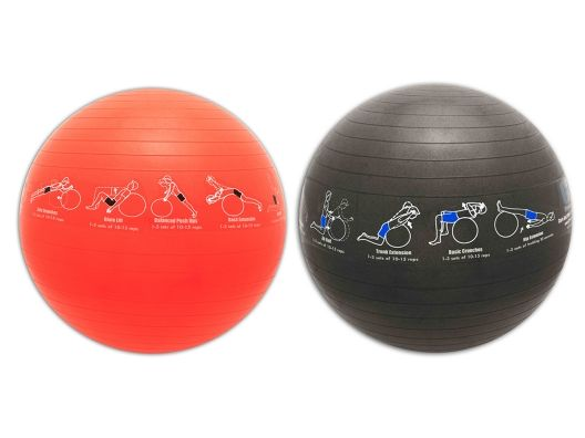 Love that this ball has all the exercises on them.