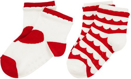 Gymboree Heart Scallop Striped Socks Two-Pack on shopstyle.com