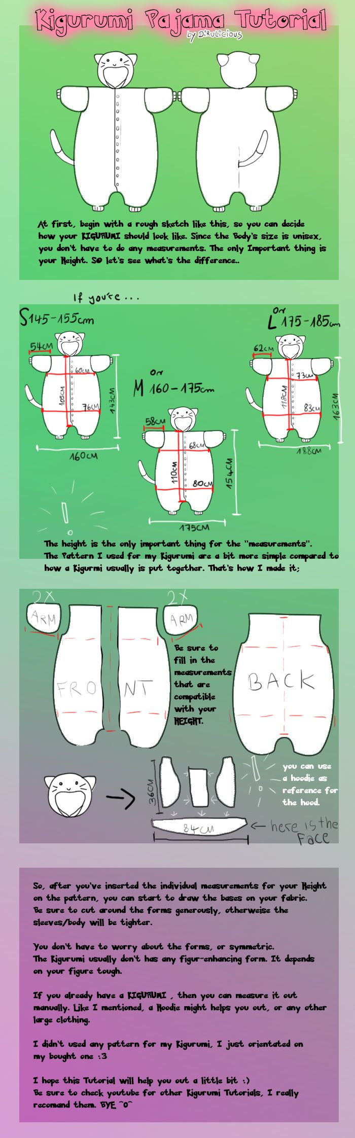 DIY Kigurumi Tutorial | kigurumis | Pinterest | Mottoparty und Nähen
