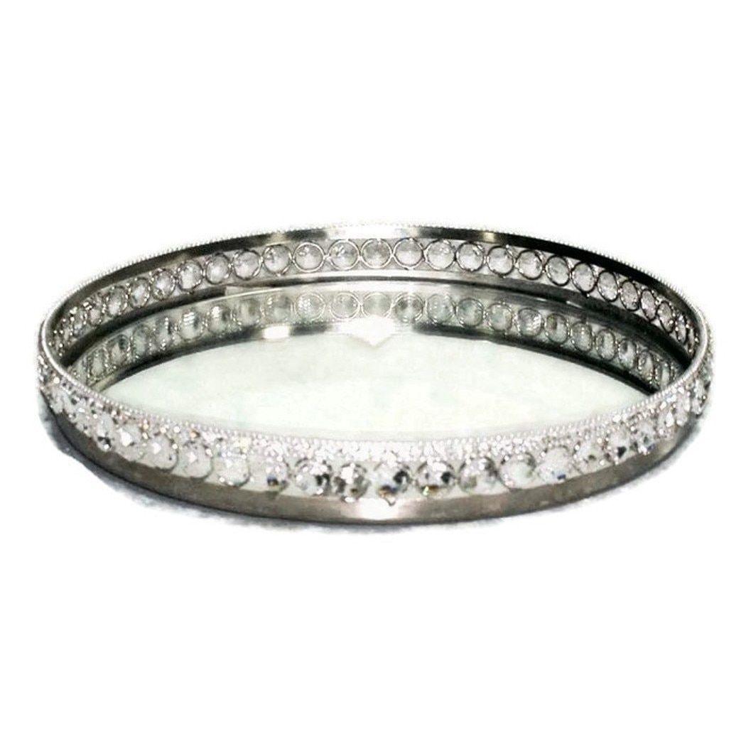 crystal designs mirrored vanity tray antique mirror