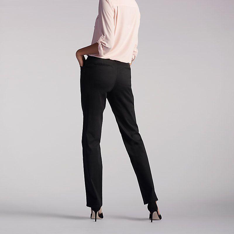 Lee petite straight leg pants 7