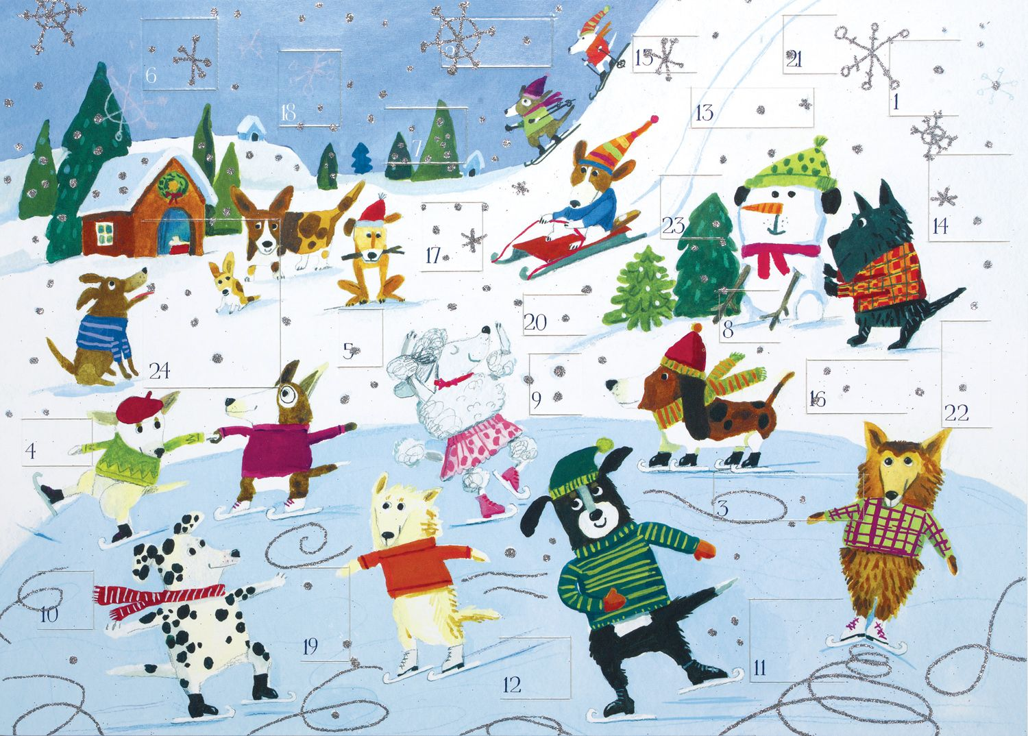 30 off all Advent Calendars! Beautiful glitter covered