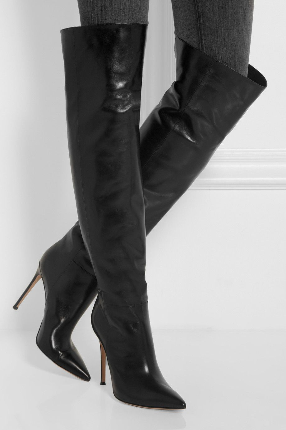 Gianvito Rossi | Leather knee boots | NET A PORTER.COM