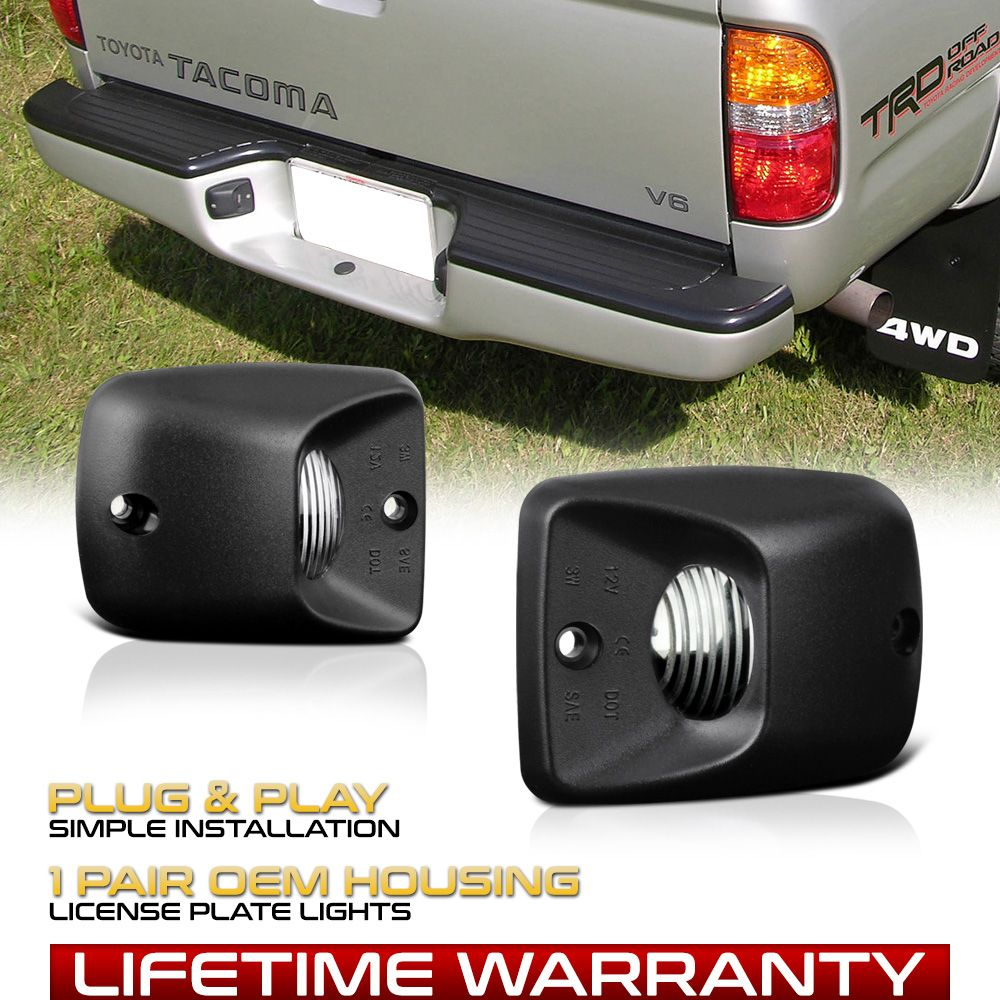 Black Rear Bumper License Plate Lights Lamps Replacement For 95 04 Toyota Tacoma Ebay In 2020 Toyota Tacoma Toyota Toyota Tacoma Prerunner